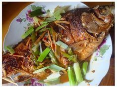 Chinese food: red cooked Ji Yu (carp). RP by Splashtablet iPad Case for Suction…