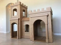 Created a new and improved cardboard castle by Brandon Tran! Includes how to instructions and more pictures.