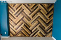 DIY+Herringbone+Wood+Paneled+Wall