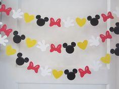 10 ft minnie mouse papel inspirado guirnalda bandera decoraciones cumpleaños…