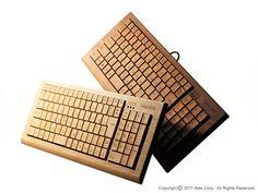 Wooden Keyboard  Full Ki-Board by Hacoa