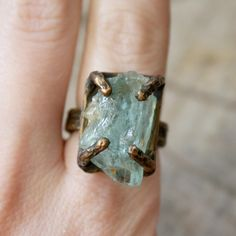 {Aquamarine Regal Ring Bronze} We are Here - loooove this!