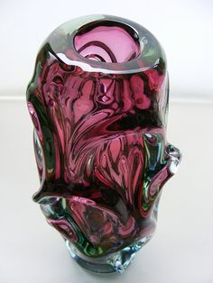 Škrdlovice glass vase