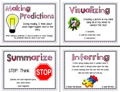 reading strategies posters | You can download a copy from google docs here .
