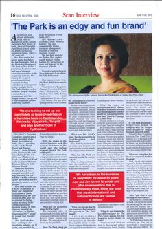 Ms. Paul, Chairperson The Park Hotels India, interviewed by Vizag Industrial Scan