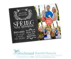 mini sessions Card Template photography photographer marketing photo spring sessions PHOTOSHOP USERS ONLY