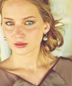 This is the most stunning portrait I've ever seen of Jennifer Lawrence. Her eyes!