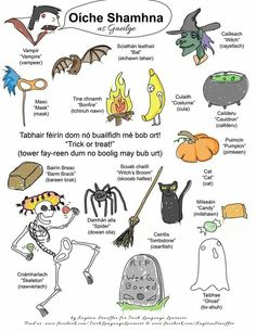 Halloween 'as Gaelige' (in Irish) Irish Gaelic Language, Gaelic Words, Irish Halloween, Scottish Gaelic, Gaelic Irish, Irish People, Irish Eyes Are Smiling, Irish American, Language Lessons