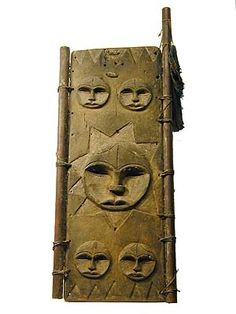 Africa | Eket Shutter. Eket Sculpture shows traditional masks, figures, shutters, doors and other objects from the Eket people, a subgroup of the Ibibio of Nigeria. | © Tim Hamill Africa Art, East Africa, North Africa, Tribal African, Door Panels, Traditional Doors, African Masks, Old Doors, Stone Work
