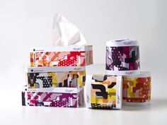 Designed by Australian student Lesley Morris for a conceptual boutique tissue, toilet paper and sanitary product company called dryer*, the packaging itself is meant to create brand desirability particularly for the fashion conscious consumer or perfect minimalist out to spruce up a gray palette.