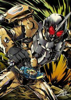 Kamen Rider, Power Rangers, Godzilla, Gundam, Character Design, Japan, Superhero, Anime, Notebook