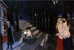 Paul Delvaux - Silent Night, 1962