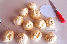Ψωμάκια για Μπέργκερ Burger Buns, Food Processor Recipes, Garlic, Vegetables, Vegetable Recipes, Hamburger Buns, Veggies