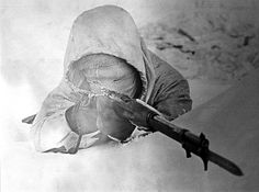 "Known as ""White Death"" Finish sniper, Häyhä's weapon of choice was (ironically) a Russian-made Mosin-Nagant rifle, mainly chosen to suit his small stature of 5-foot-3 inches. Häyhä opted for a weapon without telescopic sights, so as to present a smaller target to enemies, to avoid fog on the glass lens in cold weather, and to prevent the possibility of sunlight reflecting off the glass and making his position known. Häyhä was accurate without any visual aids."
