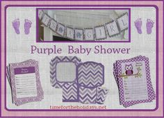 Purple or Lavender Baby Shower | Time for the Holidays