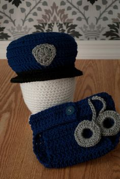Crochet Police Officer OR Sheriff Uniform by SewHookedNeedleworks, $30.00