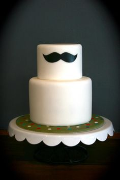 Moustache cake, by Sugarplum Cake Shop Cakes To Make, Cakes And More, How To Make Cake, Pretty Cakes, Beautiful Cakes, Amazing Cakes, Cupcakes, Cupcake Cakes, Shoe Cakes
