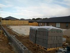 Retaining wall and supplies