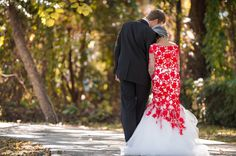 Red and white dress. Jacksonville Wedding Photographer