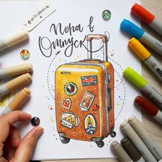 Ideas Travel Drawing Sketches Art For 2019 Bullet Journal Travel, Bullet Journal Art, Bullet Journal Ideas Pages, Bullet Journal Inspiration, Copic Marker Art, Copic Art, Copic Drawings, Cute Drawings, Illustrator