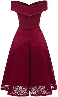 Women Dark-red Off Shoulder Short Sleeve Lace Zipper Chic Party Dress - XL Source by amedrado dresses party Women's A Line Dresses, Elegant Dresses, Pretty Dresses, Sexy Dresses, Short Dresses, Formal Dresses, Mini Dresses, Summer Dresses, African Fashion Dresses