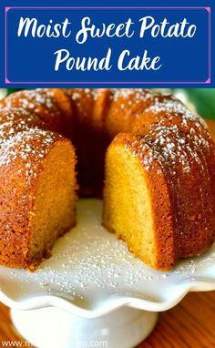 Southern Sweet Potato Cake Recipe, Sweet Potato Pound Cake, Sweet Potato Cheesecake, Sweet Potato Dessert, Sweet Potato Bread, Sweet Potato Recipes, Sweet Pound Cake Recipe, Sweet Potato Bundt Cake Recipe, Sweet Potato Cornbread