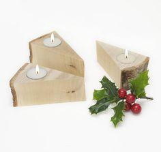 christmas woodland tea light holder by cairn wood design | notonthehighstreet.com