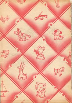 I find these so inspiring - end papers from vintage books.  Wallpaper for vintage dollhouse nursery.