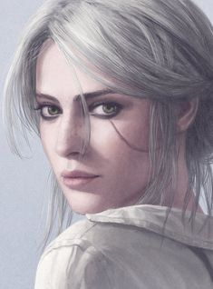 The witcher ciri art,so pretty Book Characters, Fantasy Characters, Female Characters, Witcher Art, The Witcher 3, Ciri Witcher, The Witcher Wild Hunt, Character Portraits, Character Art
