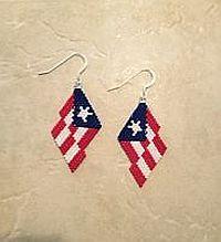 Puerto Rican Beaded Earrings Pattern by Linda Hampton aka Beadintrigue at Bead-Patterns.com