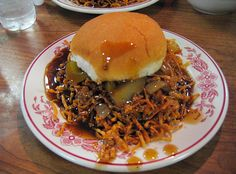 "So this is a ""chow mein sandwich,"" served in Fall River, MA. This ... explains a lot. Such as why Chinese restaurants in the Boston burbs deliver *dinner rolls* with your order. Says @Hyoun Park: ""WHAT IS WRONG WITH YOU PEOPLE?!"""