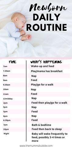 Routine For Newborn, Newborn Baby Tips, Newborn Care, Things For Newborn Baby, Newborn Schedule Sleep, Baby Routines, Baby Checklist Newborn, New Baby Checklist, Newborn Babies