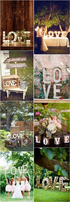 35 Awesome LOVE Letters Wedding Decor Ideas…
