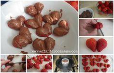 Fresas cubiertas de chocolate para el Día de San Valentín #recetas