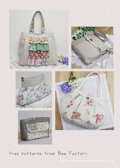 Free Japanese Sewing Patterns...step by step pictures make it easy to complete without needing to read the Japanese instructions