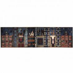 """Hannah Ryggen / absolutetapestry.com """"Trollveggen"""" - 1966 190x720 cm"""
