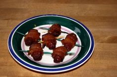 Bacon-Wrapped Little Smokies with brown sugar.