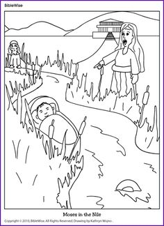 A cute coloring page of the Israelites walking through the