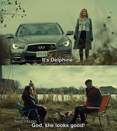"""When he bowed in the presence of Delphine's greatness. 