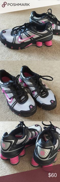 Black and Pink Nike Shox Excellent condition. Nike Shoes Sneakers