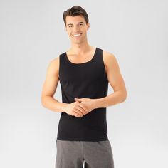Fruit of the Loom Men's Tank Top - Black Xxl