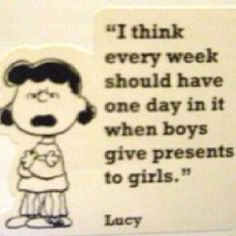You tell them Lucy!