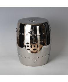 qing art - Ceramic Stool Silver - Chinese Furniture Silver Ceramic Stool Contemporary Handmade Chinese Furniture [] - £130.00 : Qing Art - Chinese Furniture, Soft Furnishings, Lighting, Contemporary Oriental Interiors