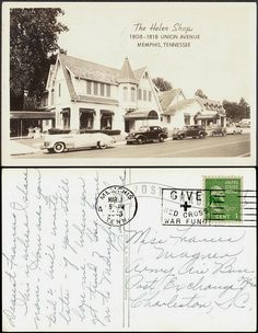 The Helen Shop, Memphis, Tennessee - postcard mailed 1945 | Flickr - Photo Sharing!