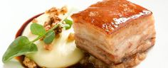 Caramelised Pork Belly with Feijoa, Apple Relish and Walnut Mash - worth the effort!