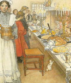 """Christmas Evening"" (detail) by Carl Larsson 