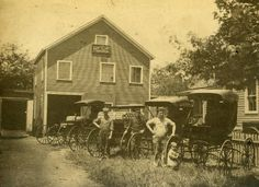 J.A. Loeffler Horse Shoeing and Wagon Making business, on Lincoln Ave., Sandusky in the early 1900s.