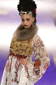 Christian Lacroix couture; Fall 2005
