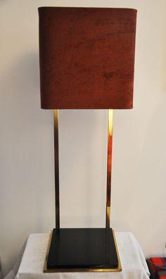 lampadaire 1970 laiton plexi  http://lampevintage.blogspot.fr/2012/11/lampadaire-19701980-en-laiton-plexi.html