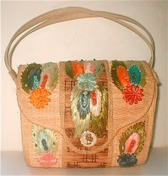 Woven Reed Straw Bag Summer Purse Vintage by studiostebbylee
